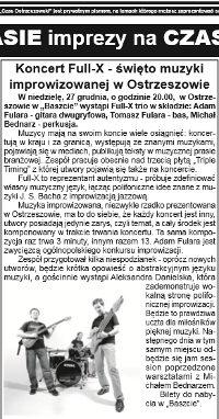 """Gig review - """"Baszta"""" - Czas Ostrzeszowski, Nov 2015, Polish language"""