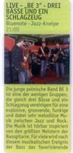 """Be 3 in Magdeburg (German language) - """"Dates"""" 09/2009"""