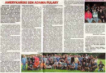 """""""Amerykański Sen Adama Fulary"""" - Czas Ostrzeszowski, 2013.08.07"""