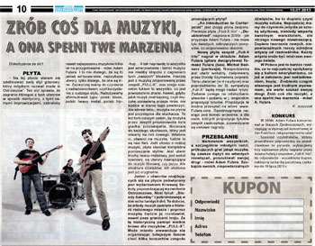 """Do something for music."" Review of the new Full-X CD ""An Introduction to Counterpoint"" (Czas Ostrzeszowski, July 10, 2013). Polish language."