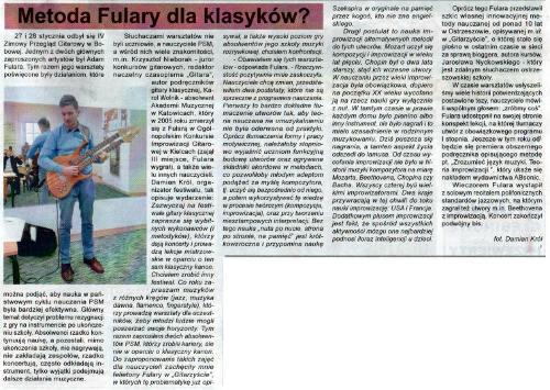 Fulara's Method for classical players? (Czas Ostrzeszowski, Feb 11, 2020, Polish lang)