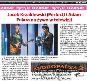 "Adam Fulara and Jack Krzaklewski - live in TV Amazing - review ""Czas Ostrzeszowski"" Sep 25, 2013 (Polish language)"