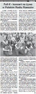 Full-X - koncert na żywo w Polskim Radiu Rzeszów, 17.04.2014.