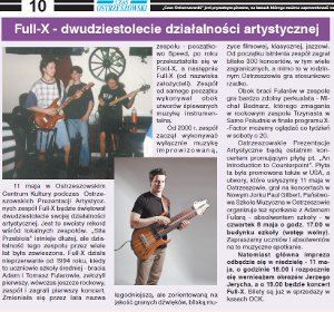 "20 years of the Full-X, ""Czas Ostrzeszowski"" May 7, 2014"