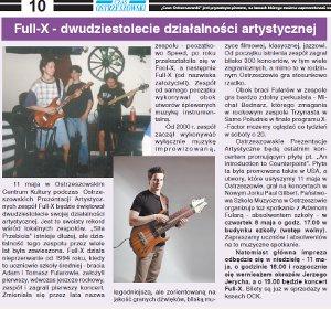 """Dwudziestolecie działalności artystycznej Full-X, """"Czas Ostrzeszowski"""" 7.5.2014"""