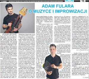 Interview with Adam Fulara about new music theory book about language of music. Polish language, Czas Ostrzeszowski Aug 10, 2021 (K. Juszczak).