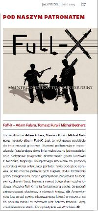 "Zapowiedź płyty ""An Introduction to Counterpoint"" Jazz Press 07/2014"