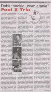 "Fool-X trio ""Doubleshred"" - debut CD - review in ""Czas Ostrzeszowski"", November 22, 2006."