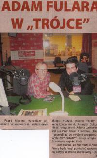 """Adam Fulara w """"Trójce"""" w audycji Piotra Barona. """"Czas Ostrzeszowski"""", 29.01.2013"""
