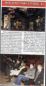 "Review of Fool-X trio gig (Polish Tour 2008) ""Czas Ostrzeszowski"" (Polish language)"