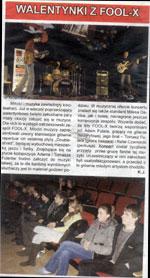 Czas Ostrzeszowski (luty 2008) - relacja z koncertu w Ostrzeszowie (trasa Fool-X trio 2008).