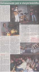 """""""Ostrzeszowski jazz w starym kościółku"""" - """"Czas Ostrzeszowski"""" 17. 05. 2006 r. - relacja i wywiad z A. Fularą."""