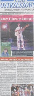 Czy ostrzeszowski muzyk wyda płytę w U.S.A? - Czas Ostrzeszowski (03.10.2007) - Relacja z koncertu w The Great American Music Hall (San Francisco, U. S. A.)