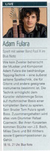 Fool-X trio - Live in Magdeburg (Dates - Das Magdeburger Stadtmagazin 10.2008) - German language.