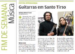 """Guitarras em Santo Tirso"" Review of the XVI Festival Internacional de Guitarra de Santo Tirso. Adam Fulara was one of the artists. Portuguese language. (""Destak"" May 9, 2009)."