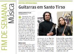 """""""Guitarras em Santo Tirso"""" Review of the XVI Festival Internacional de Guitarra de Santo Tirso. Adam Fulara was one of the artists. Portuguese language. (""""Destak"""" May 9, 2009)."""