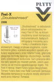 "Fool-X Trio - ""Doubleshred"" CD - review in ""Guitar Player"" (Polish ed.)"