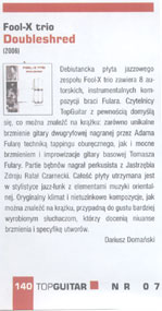 "Fool-X Trio - ""Doubleshred"" CD - review in  ""TopGuitar"" (Polish)"