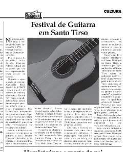 """""""Festival de Guitarra em Santo Tirso"""", Festival review.  Portuguese language. (""""Eco Regional"""" marzec 2009)"""