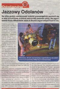 Podsumowanie koncertu Fool-X w Odolanowie - Gazeta Ostrowska - 24 maj 2006
