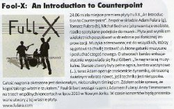 "New album ""An Introduction to Counterpoint"" in ""Guitar Player"" (Polish ed., Polish language)"