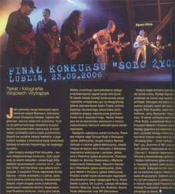 """Solo zycia"" - review of the festival. ""Guitar Player"" (Polish ed.) 11/2006"