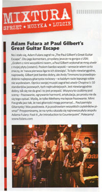Adam Fulara at Paul Gilbert's Guitar Escape - Gitarzysta Nr 8/2013