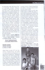 "Review - Gig of Fool-X trio, Polish Tour 2008, ""Gliwicki Magazyn Kulturalny"", Feb. 2008. (Polish language)"