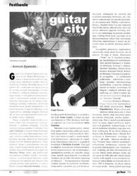 """""""Guitar City"""" - relacja z festiwalu i konkursu  - """"Jazz Forum"""" 2/2006"""
