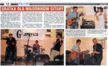 """""""Gratka dla milosnikow gitary"""" - review of the jaZZlot festival 2008 (""""Czas Ostrzeszowski"""" Sep 24, 2008), Polish."""