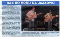 """Jacek Królik i Fool-X trio. Relacja z koncertu w ramach """"JaZZlot 2009"""". """"Czas Ostrzeszowski"""", wrzesień 2009."""