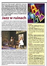 """Jazz w Ruinach"" Review of the festival. Polish language (MSI, 2.08.2007)"