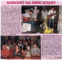 """""""Perły w Koronie"""", koncert z udziałem Adama Fulary i Piotra Słapy. """"Czas Ostrzeszowski"""", wrzesień 2009."""