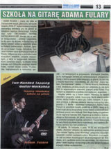 """Szkola na gitare Adama Fulary"" - Review of the book + DVD ""Two-handed tapping - guitar workshop"" by Adam Fulara. Polish language, ""Czas Ostrzeszowski"", Nov 11, 2009r."