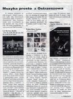 """""""Muzyka prosto z Ostrzeszowa"""" - """"Kurier Ziemi Ostrzeszowskiej"""" 01.12.2009."""