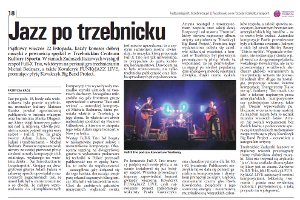 """Jazz po trzebnicku"" - review of the All Souls' Day Jazz Festival 2013, December 2013"