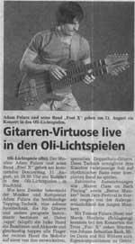 """""""Gitarren-Virtuose live"""" Generalanzeiger 2006.08.28"""