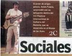 "Front page of ""Sociales"" Daily (Spanish language) - Mexico 2008"