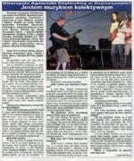 "Interview with K. Misiak, famous Polish guitar player who played with Fool-X trio at the JaZZlot 2004 Festival, ""Czas Ostrzeszowski"", August 2004, Polish language"