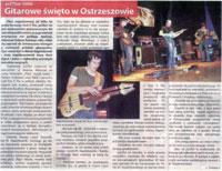 """Review of the jaZZlot 2006 - Mark Napiorkowski + Fool-X trio. """"Czas Ostrzeszowski"""", August 2006, Polish language."""