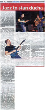 """Jazz is a state of nature"" - interview with Mark Napiorkowski until JaZZlot 2006 Festival, where he performed with Fool-X trio. ""Czas Ostrzeszowski"", August 2006, Polish language."