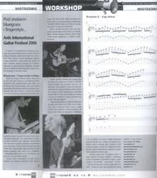 Relacja z  Międzynarodowego Festiwalu Gitarowego w NewtownArds (Irlandia Północna) w TopGuitar (maj, czerwiec 2007)