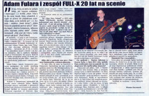 """Adam Fulara & Full-X 20 years on stage"" - review from Ostrzeszow Festival of Art 2014 (May 26, 2014)"