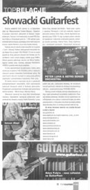 "Review of the Guitarfest - International Guitar Festival in Bratislava (Slovakia) - ""TopGuitar"" Oct. 2006"