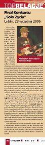 """Solo Zycia 2006 Festival"" - review (TopGuitar, Polish language, Nov, 2006)"