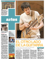 """El otro lado de la guitarra"" - review from gig at XIII International Festival de Guitarra del Noreste - ""Vanguardia"", July 2008 (PDF, Spanish)"