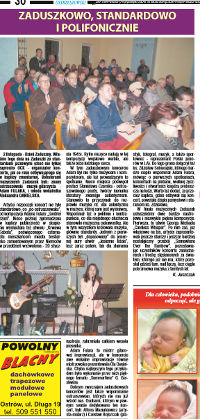 Counterpoint jazz standards - review of the gig in Ostrzeszow, Nov 2015, Polish language