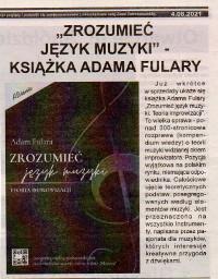 """Fulara's book """"Understanding of music language"""" (Polish) premiere. Czas Ostrzeszowski, August 4, 2021."""