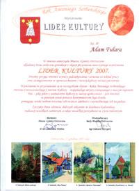 Leader of Culture 2007 - Mayor's Prize